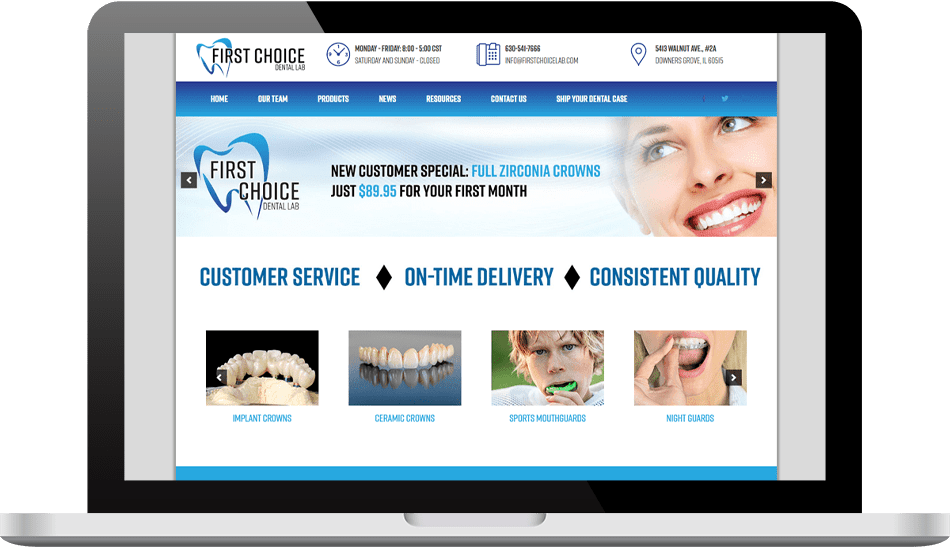 First Choice Dental Lab - Case Study